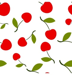 Pattern Silhouette Cherry vector image