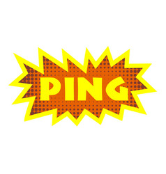 Ping icon pop art style vector