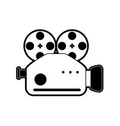 professional video camera icon image vector image
