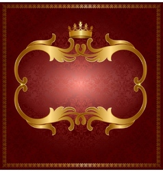 Royal gold frame vector