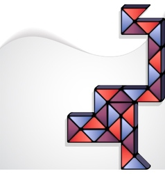 Rubiks snake abstract minimal design vector