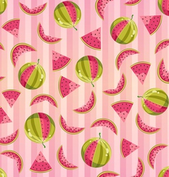 Seamless Pattern With Watermelons vector image vector image