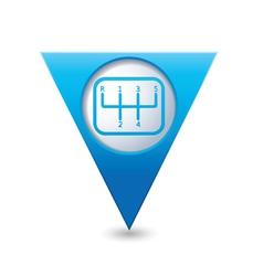 transmission1 BLUE triangular map pointer vector image