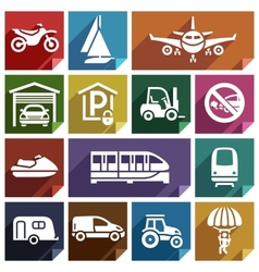 Transport flat icon-08 vector image vector image