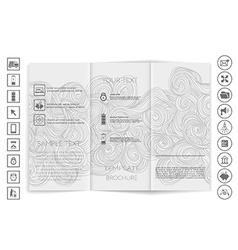 Tri-Fold Brochure mock up design vector image