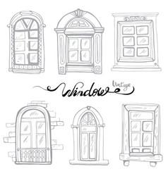 vintage window set vector image vector image