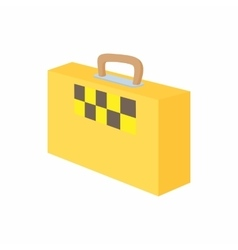 Yellow suitcase with a taxi sign icon vector image vector image