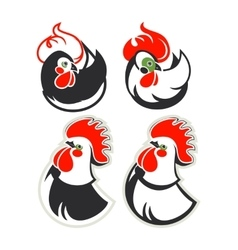 set of cocks vector image
