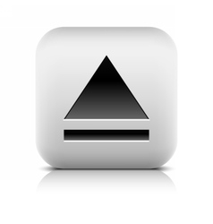 Media player icon with eject sign vector