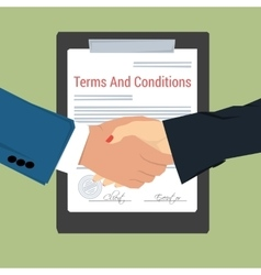 handshake - terms and conditions vector image