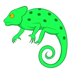 Chameleon icon cartoon style vector