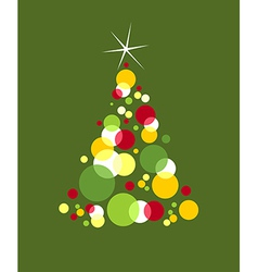 Christmas tree designed with bubbles vector image