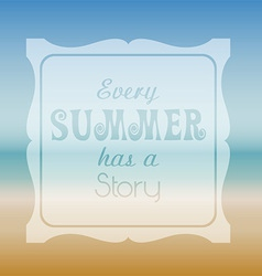 Summer quote background vector image