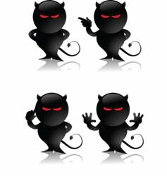 devil toy vector image