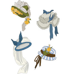 4 cappelli vector image