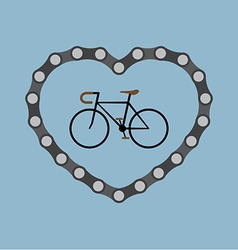 I love bicycle vector