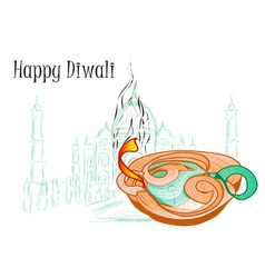 Holiday of diwali vector