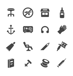 Tattoo and piercing icons vector