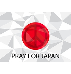 Pray for japan with peace symbol vector