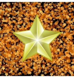 Gold metal star vector