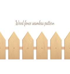 Wood fence seamless pattern vector