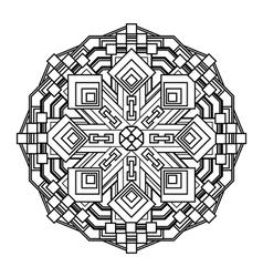 Mandala ethnic religious design element with a vector