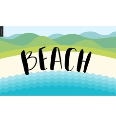 Beach calligraphy lettering vector