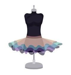 Female fashion dress isolated icon design vector