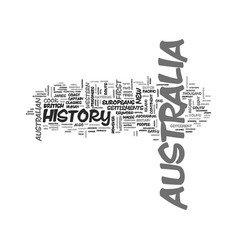 Australia history text word cloud concept vector