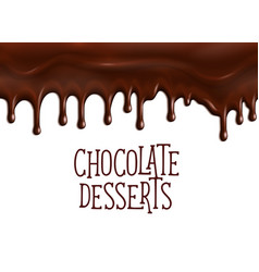 Bakery chocolate desserts poster for cafe vector