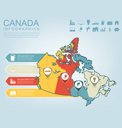 Canada map with infographic elements infographics vector