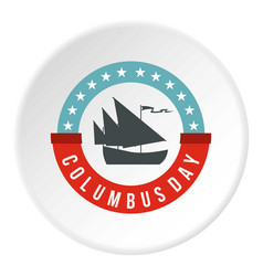 Columbus day badge icon circle vector