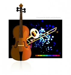 Concerto for violin and orchestra vector