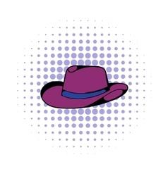 Cowboy hat icon comics style vector