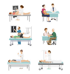 Doctor and patient medical healthcare vector