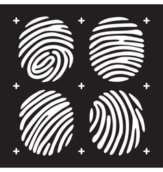 fingerprint icon set vector image vector image