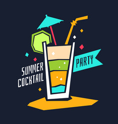 go to summer party vector image vector image