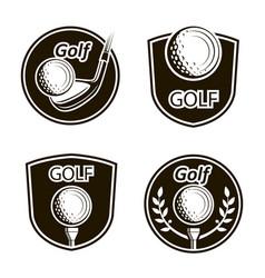 golf emblems set vector image