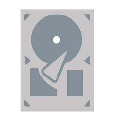 Grey gramophone icon vector