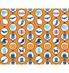Halloween Set Orange Pattern vector image