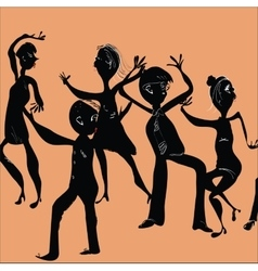 Happy People Dancing vector image