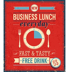 lunch color vector image vector image