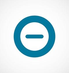 Minus bold blue border circle icon vector