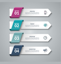 Modern infographic arrows vector