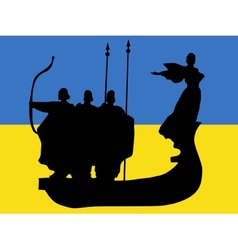 silhouette of kyiv vector image