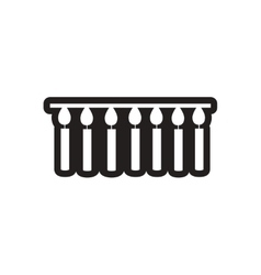Style black and white icon garland with candles vector