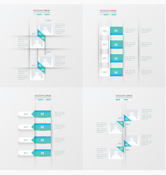 Timeline 4 item blue gradient color vector