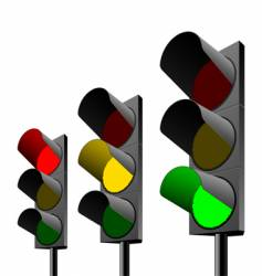 traffic lights vector image vector image