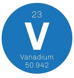 Vanadium chemical element vector image vector image
