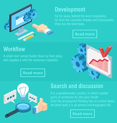 Work process workflow and discussion infographic vector